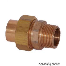 """Lötfitting Rotguss Verschraubung flachdichtend, Serie 4331G, 18 mm x 1/2"""" AG"""