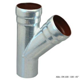 Loro-X-Stahl-Abflusssystem Abzweig, DN 100-40-45°