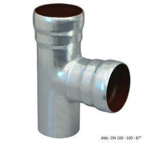 Loro-X-Stahl-Abflusssystem Abzweig, DN 70-40-87°