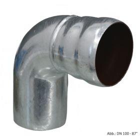 Loro-X-Stahl-Abflusssystem Winkelbogen, DN 40-90°