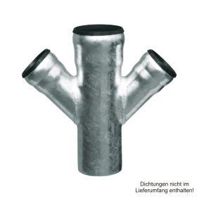 Loro-X-Stahl-Abflusssystem Doppelabzweig, DN 70-50-50-45°