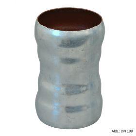 Loro-X-Stahl-Abflusssystem Doppelmuffe, DN 40