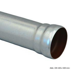 Loro-X-Stahl-Abflusssystem Rohr mit 1 Muffe, DN 80 x 250 mm