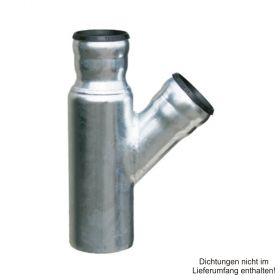 Loro-X-Stahl-Abflusssystem Übergangsabzweig, DN 70-40-50-45°