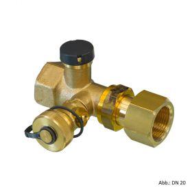 """Oventrop Kappenventile mit Plombiervorrichtung DN20, 3/4""""IG x 3/4""""IG, 1089006"""