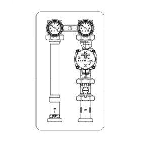 """Oventrop Kesselanbindesystem """"Regumat S-180"""" DN 25 ohne Pumpe mit PKH,1357070"""