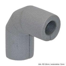 Isolierbogen 90° aus PE-Weichschaum, RD 15mm / Isolierstärke 13mm