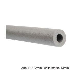 Isolierschlauch aus PE-Weichschaum, Länge 2m, angeschlitzt, RD 35mm / Isolierstärke 9mm