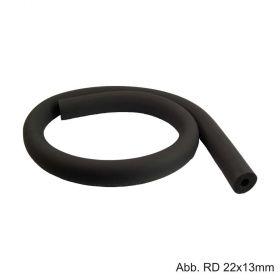 Flexibler Hochtemperatur Isolierschlauch aus EL-Weichschaum, ungeschlitzt, Länge 2 m, RD 15mm / Isolierstärke 13mm