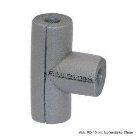 Isolier T-Stück aus PE-Weichschaum, RD 15mm / Isolierstärke 13mm