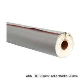 PUR-Isolierschale mit PVC-Mantel, Länge 1m, 50%, RD 15mm / Isolierstärke 20mm