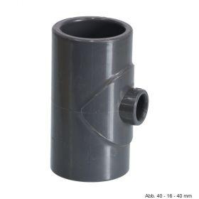 PVC-U T-Stück 90°, reduziert, Klebemuffe, 10 bar, 250 mm x 160 mm x 250 mm