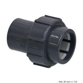 PVC-U Flex-Fit Verschraubung, Klemm x Klebestutzen, 63 mm