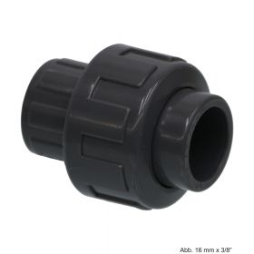 """PVC-U Verschraubung, Anschluss: Klebemuffe x IG, 10 bar, 16 mm x 3/8"""""""