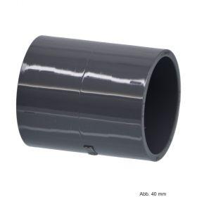 PVC-U Muffe, Spritzguss, Klebemuffe, 16 bar, 160 mm