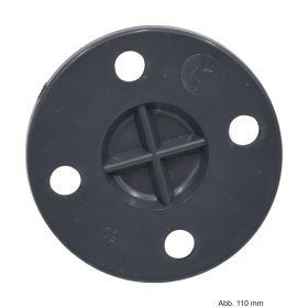 PVC-U Blindflansch, 10 bar, DN225, Flansch: PN10, Lochkreis 325 mm, 8 Löcher, Loch Ø 23 mm