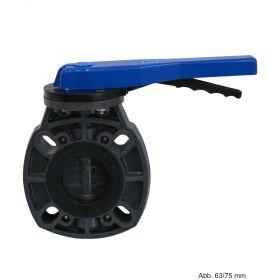PVC-U Absperrklappe, Typ 7000, Flansch, 10 bar, 90 mm, DN 80, Lochkreis: 160/169 mm