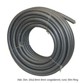 Rehau Universalrohr Rautitan Flex, 16x2,2mm 9mm vorgedämmt, rechteckig, 50m Ring