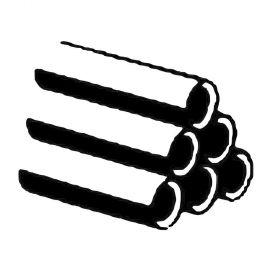 """Gewinderohr DIN EN 10255W schwarz, geschweißt, 3 m Stange, (17,2 x 2,35mm), 3/8"""""""