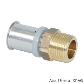 "Roth RIS Übergangsnippel 14 mm x 1/2"" AG, Messing"