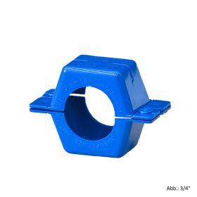 """Plombierschelle Kunststoff, blau, komplette Schale, 1/2"""""""