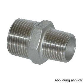 """Edelstahl Reduktions-Doppelnippel, Serie 245, 1 1/4"""" x 3/4"""""""