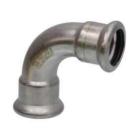SEPPELFRICKE Edelstahl XPS002A, Bogen 90° I/I, 15 mm