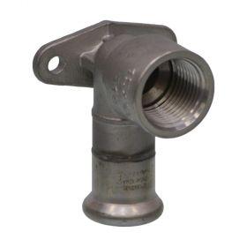 "SEPPELFRICKE Edelstahl XPS472G, Deckenwinkel 90° mit IG, kurze Bauform 15 mm x 1/2"""