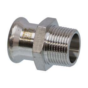 SEPPELFRICKE Edelstahl XPS243G, Übergangsnippel I/AG, 15 x 1/2 mm