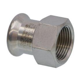 SEPPELFRICKE Edelstahl XPS270G, Übergangsmuffe I/IG mm, 15 x 1/2 mm