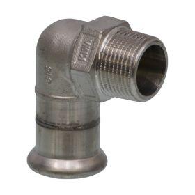 """SEPPELFRICKE Edelstahl XPS092G, Übergangswinkel 90° I/AG, 15 mm x 1/2"""""""