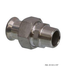 """SEPPELFRICKE Edelstahl XPS331G, Durchgangsverschraubung I/AG, 15 mm x 1/2"""""""