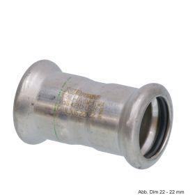 SEPPELFRICKE Edelstahl XPS270, Muffe I/I, 108 mm