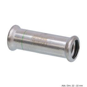 SEPPELFRICKE Edelstahl XPS270S, Schiebemuffe I/I mm, 108 mm