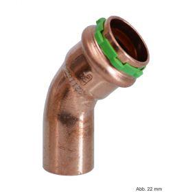 SEPPELFRICKE Sudo-Press Kupfer VC040A Bogen 45°, I/A, 12 mm