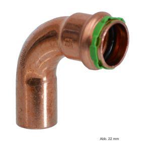 SEPPELFRICKE Sudo-Press Kupfer VC001A Bogen 90°, I/A, 12 mm
