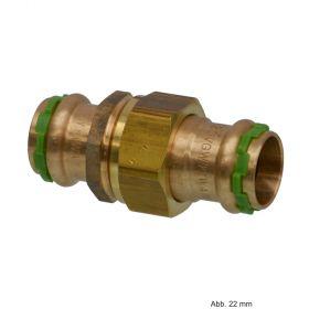 SEPPELFRICKE Sudo-Press Kupfer/Rotguss VC330 Durchgangsverschraubung, flachdichtend, 12 mm