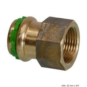 "SEPPELFRICKE Sudo-Press Kupfer/Rotguss VC270G Übergangsmuffe mit IG, 12 mm x 3/8"""