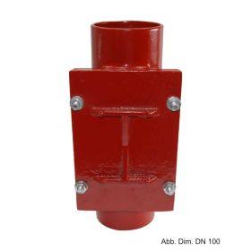 SML-Reinigungsrohr rechteckige Öffnung DN 300