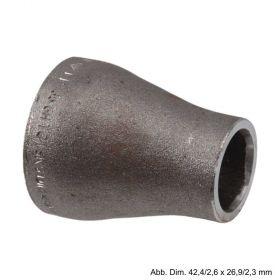 Reduzierstück, konzentrisch, BL 38 mm, 21,3/2,0 x 17,2/1,8 mm