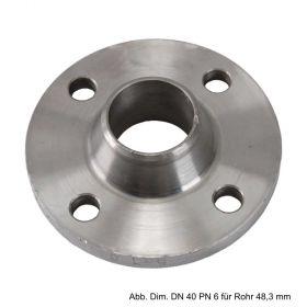 Vorschweißflansch aus Stahl, schwarz, PN 6, LK d=335 mm, SZ = 12, DN 300 - 323,9 mm
