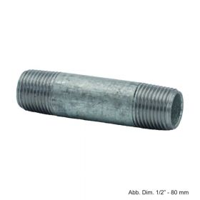 """Rohrdoppelnippel verzinkt, Nr. 23, 3/8"""" x 40 mm"""