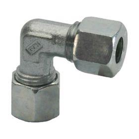 Schneidringverschraubung Winkel-Verschraubung, verzinkt, 6mm