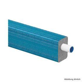 Uponor Uni Pipe PLUS Mehrschichtverbundrohr DHS26 weiß vorgedämmt 16x2 mm blau im Ring 25 m