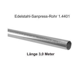 Viega Edelstahl-Sanpress-Rohr 1.4401, Länge 3,0m, 15 x 1,0 mm