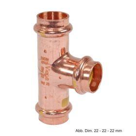 Viega Profipress-G Kupfer T-Stück, Serie 2618, 12-12-12 mm