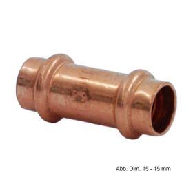 Viega Profipress Muffe Kupfer, Serie 2415, 14 mm