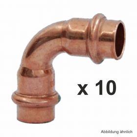 Viega Profipress Bogen Kupfer I-I 90°, Serie 2416, 12 mm, 10 St.
