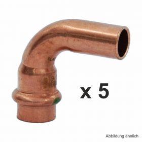Viega Profipress Bogen Kupfer I-A 90°, Serie 2416.1, 28 mm, 5 St.