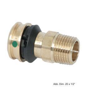 """Viega Raxofix Übergangsstück mit SC-Contur, 16 mm x 1/2"""" AG, Modell 5311, Rotguss"""